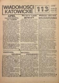 Wiadomości Katowickie, 1981, nr113