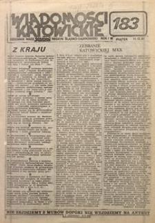 Wiadomości Katowickie, 1981, nr183