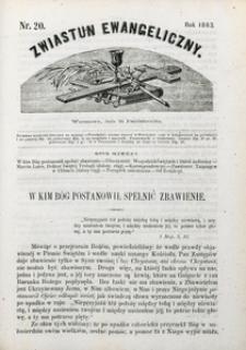 Zwiastun Ewangeliczny, 1863, nr20