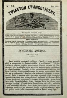 Zwiastun Ewangeliczny, 1865, nr10