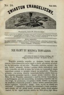 Zwiastun Ewangeliczny, 1865, nr24