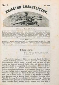 Zwiastun Ewangeliczny, 1868, nr2
