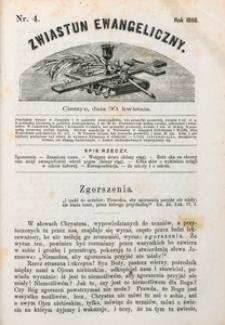 Zwiastun Ewangeliczny, 1868, nr4