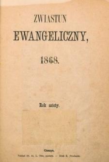 Zwiastun Ewangeliczny, 1868, spis rzeczy