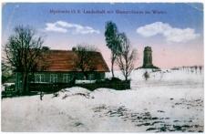 """""""Myslowitz O.S. Landschaft mit Bismarckturm im Winter"""""""