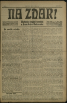 Nazdar! : ustřední orgán horniků a hutniků v Rakousku, 1905, č. 1-36