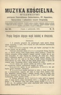 Muzyka Kościelna, 1893, R. 13, nr 10