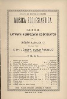 Musica Ecclesiastica, nr 16