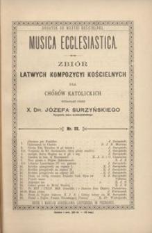 Musica Ecclesiastica, nr 22