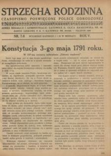 Strzecha Rodzinna, 1928, R. 5, nr 7/8