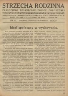 Strzecha Rodzinna, 1928, R. 5, nr 12