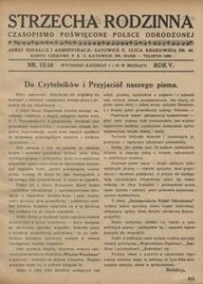 Strzecha Rodzinna, 1928, R. 5, nr 15/16