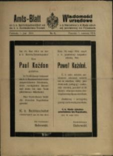 Amts-Blatt der k. k. Bezirkshauptmannschaft und des k. k. Bezirksschulrates Freistadt, 1914, Nr 6, 7