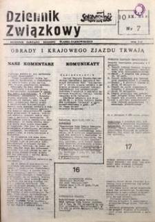 Dziennik Związkowy, 1981, nr7