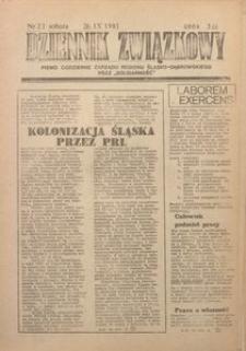 Dziennik Związkowy, 1981, nr21