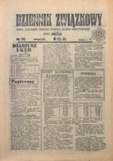 Dziennik Związkowy, 1981, nr30