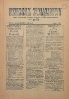 Dziennik Związkowy, 1981, nr34