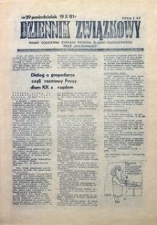 Dziennik Związkowy, 1981, nr39