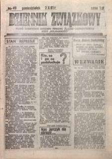 Dziennik Związkowy, 1981, nr49