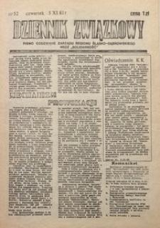 Dziennik Związkowy, 1981, nr52