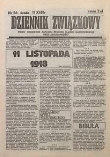 Dziennik Związkowy, 1981, nr56