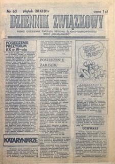Dziennik Związkowy, 1981, nr63