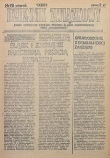 Dziennik Związkowy, 1981, nr70
