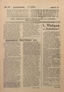 Dziennik Związkowy, 1981, nr74