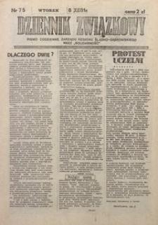 Dziennik Związkowy, 1981, nr75
