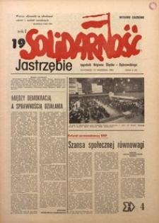 Solidarność Jastrzębie, 1981, Rok 1, nr19