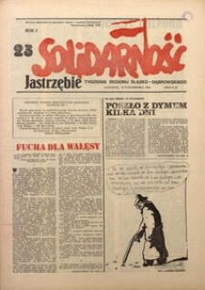 Solidarność Jastrzębie, 1981, Rok 1, nr23
