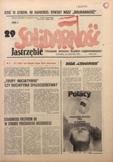 Solidarność Jastrzębie, 1981, Rok 1, nr29