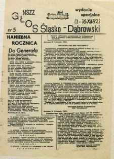 Głos Śląsko-Dąbrowski, 1982, nr 5