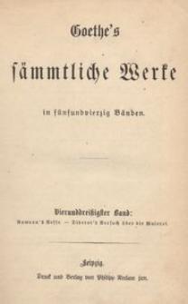 Goethe's sammtliche Werke in funfundvierzig Banden. [t. 34-35]