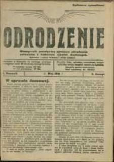 Odrodzenie : miesięcznik poświęcony sprawom odrodzenia człowieka i badaniom zjawisk duchowych, 1921/22, Nry 2-12