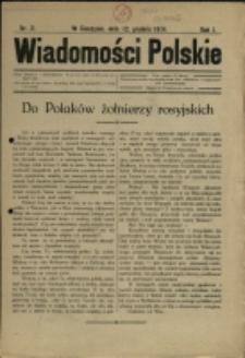 Wiadomości Polskie, 1914/15, Nry 2-3, 6-10, 12/13-19/20, 22-23, 25-28, 32