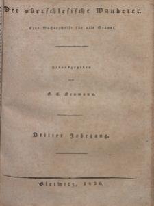 Der Oberschlesische Wanderer, 1830, Jg. 3, nr1