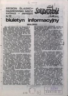 Biuletyn Informacyjny, 1989, nr 12