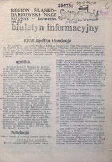 Biuletyn Informacyjny, 1989, nr 22