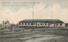 Częstochowa. Wystawa Przemysłu i Rolnictwa. 1909. Głiwny[!] plac i Pawilon Drobnego Przemysłu
