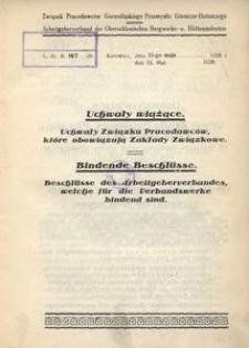Uchwały wiążące. Uchwały Związku Pracowników, które obowiązują Zakłady Związkowe (w brzmieniu ustalonem przez zmiany uchwalone do dn. 31 marca 1928 r.)