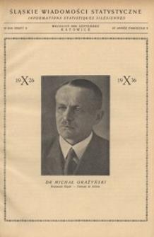 Śląskie Wiadomości Statystyczne, 1936, R. 3, z. 9