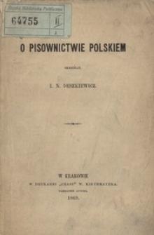 O pisownictwie polskim