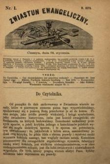 Zwiastun Ewangeliczny, 1873, nr1