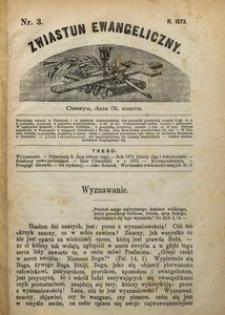 Zwiastun Ewangeliczny, 1873, nr3
