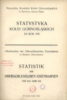 Statystyka Kolei Górnośląskich za rok 1931