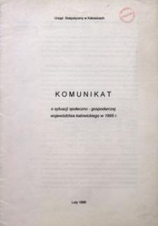 Komunikat o sytuacji społeczno-gospodarczej województwa katowickiego w 1995 r.