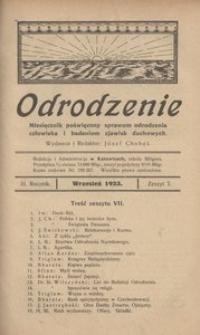 Odrodzenie, 1923, R. 3, z. 7