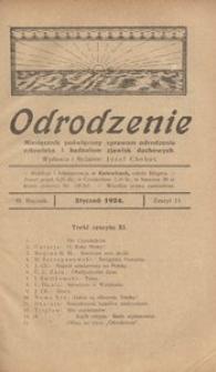 Odrodzenie, 1924, R. 3, z. 11