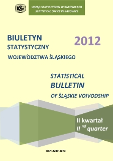 Biuletyn Statystyczny Województwa Śląskiego, 2012, 2 kwartał